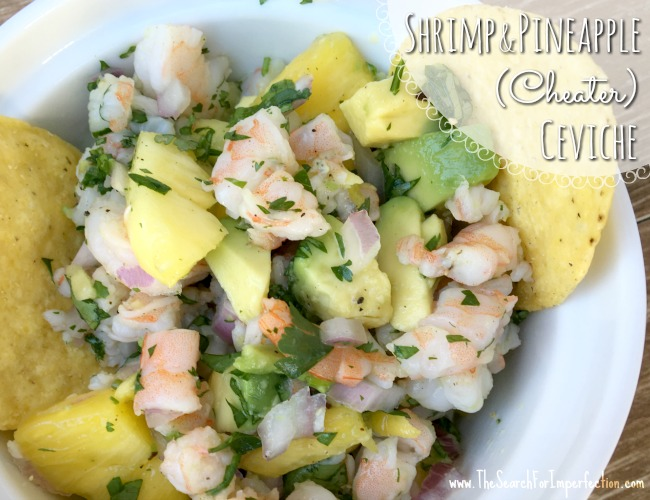 Shrimp and Pineapple (Cheater) Ceviche