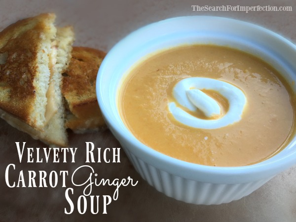 Velvety Rich Carrot Ginger Soup